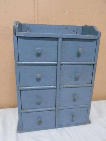 Vintage Wood 8 Drawer Spice Cabinet