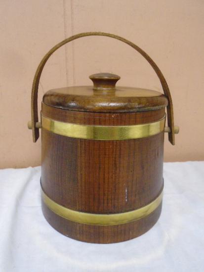 Wooden Salt Bucket w/ Lid