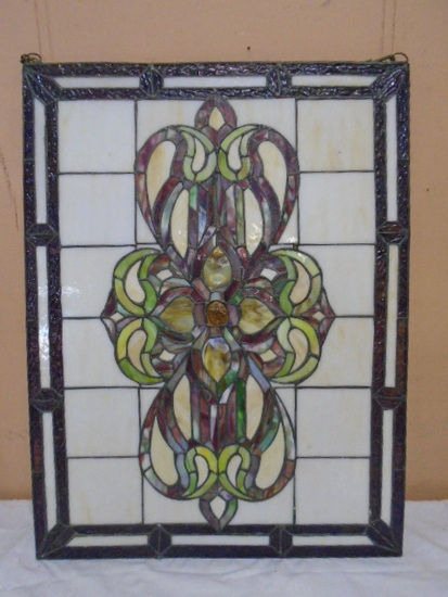 Beautiful Stained Leaded Glass Décor Piece
