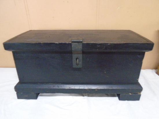 Antique Painted Wooden Storage Chest