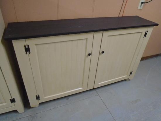 Painted Double Door Wooden Cabinet
