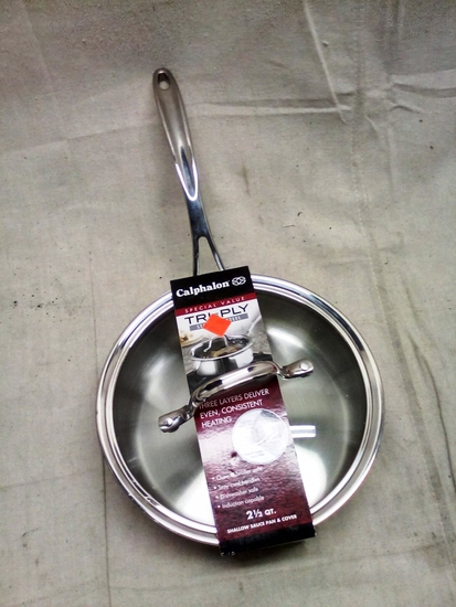 Calphalon Ti Ply Stainless Steel 2.5 Qt. pan with lid