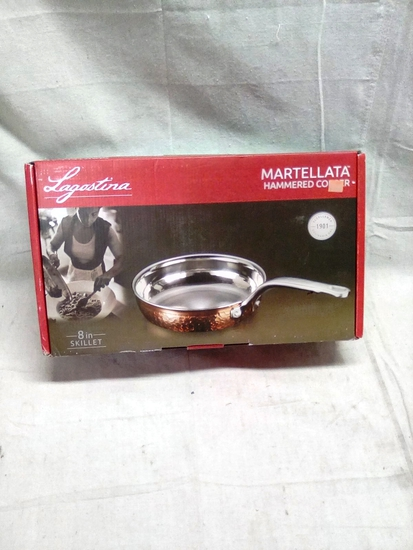 "Lagastina Martellata Hammerred Copper 8"" skillet"