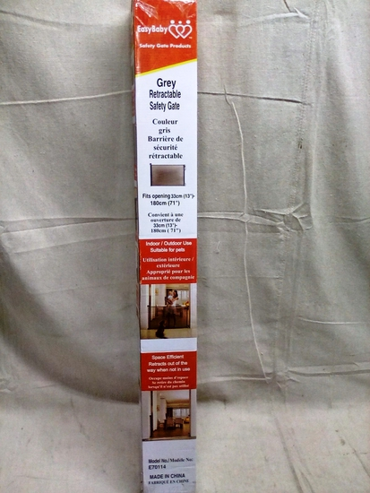 Grey Retractable Safety Gate