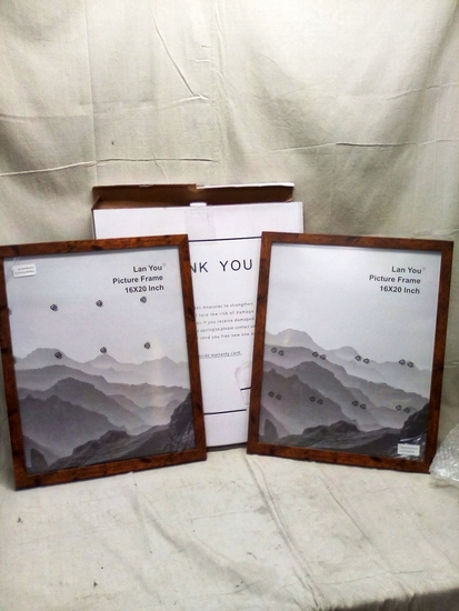 """Pair of wooden 16""""x20"""" picture frames"""