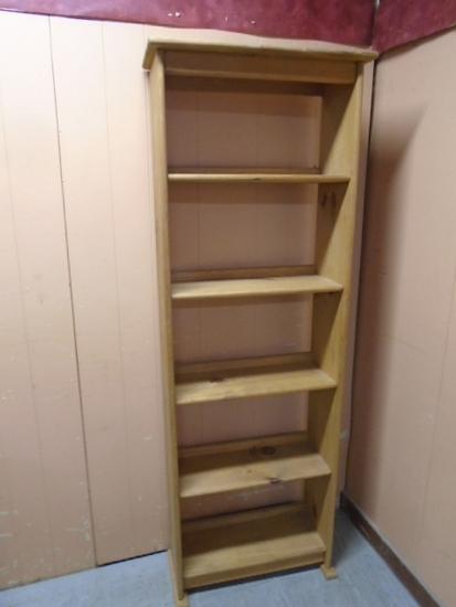 Solid Pine Bookcase/Storage Shelf