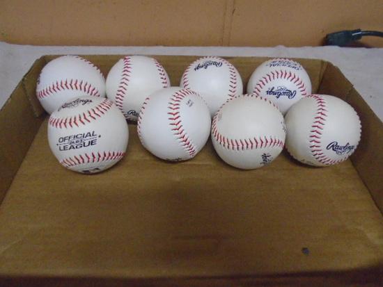 8 Brand New Rawlings Official Legue Baseballs