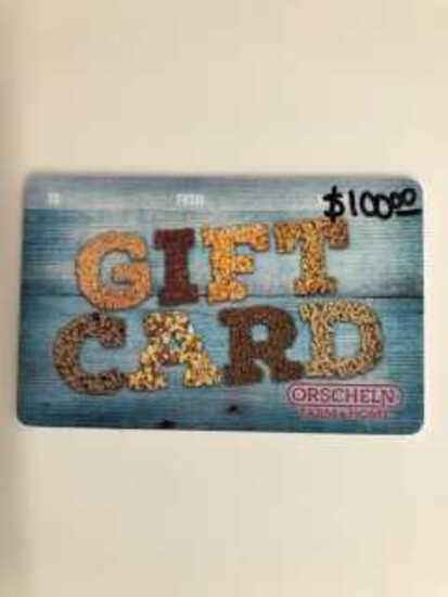 $100 Orscheln Gift Card