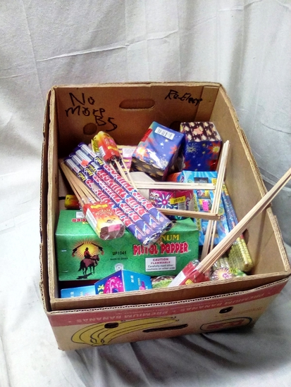 Large Box of Fireworks with over $100.00 of Retail Value