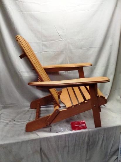 Wooden Folding Adrirondack Chair