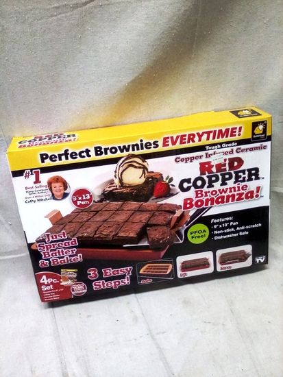 Perfect Brownies Evertime Red Copper Pan