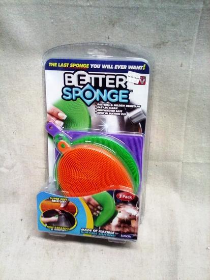 Better Sponge 3 pack of soft bristle silicone sponges