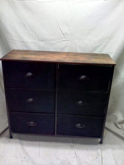 Small 6 Drawer Chest with Fabric Foldable Drawers