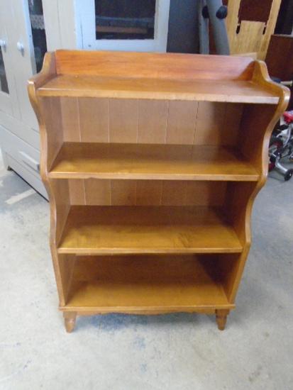 4 Shelf Maple Bookcase