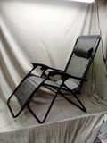 Adjustable Zero Gravity Patio Chair Recliner w/ Cup Holders