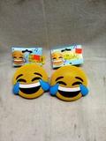 Pair of Laughing Emoji Blue Tooth Speakers