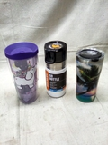 Two Tervis and One Stanley Travel Drink Containers