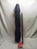 Grey 7.5' Crank Out Patio Umbrella
