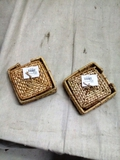 Pair of Wicker Coaster Sets