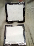 Pair of Embossed Shell Coaster Sets