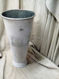 Bee and Willow Home Weathered White Galvanized Can