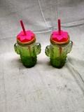 Glass Cactus Water Bottles