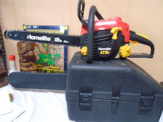 Homelite 4218c 18in Chainsaw w/ Case