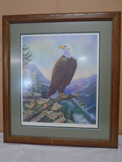 """Beautiful Limited Edition Numbered Eagle Print """"Silent Sentinal"""""""