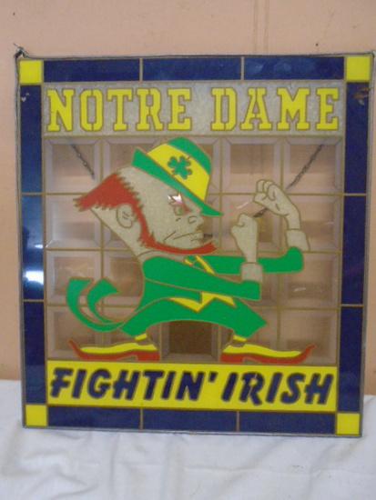 """Notre Dame """"Fighting Irish"""" Sun Catcher"""