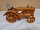 Cast Iron Allis Chalmers Tractor w/ Driver