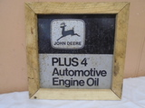 John Deere Oil Framed Sign