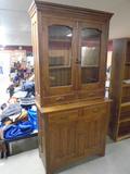Beautiful Solid Oak 2 Pc. Kitchen Cupboard