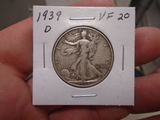 1939 D Mint Walking Liberty Half Dollar