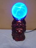Buddha Statue w/Plasma Ball