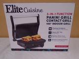 Elite Cuisine 3-In-1 Panini Grill