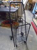 Like New Fold-Up Rolling Shopping Cart