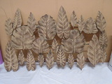Rusty Leaves Metal Wall Art Piece