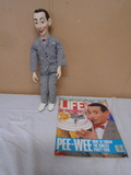 Peewee Herman Doll & Rife Magazine