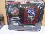 Dragon and Skull Queen Size Plush Blanket