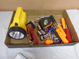 Group of Hand Tools w/Flashlight