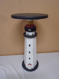 Wooden Lighthouse Side Table