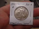 1941 D-Mint Walking Liberty Half Dollar