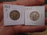 1928 S-Mint and 1929 Standing Liberty Quarters
