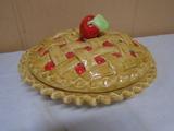 Covered Cherry Pie Dish