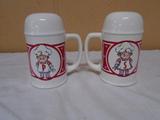 Set of Campbells Soup Kids Salt and Pepper Shakers
