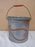 My Buddy No. 710 Galvanized Minnow Bucket