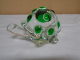 Glass Turtle Paperweight