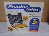Proctor Silex Belgian Waffle Maker in Box