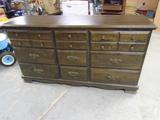 9 Drawer Wood Dresser