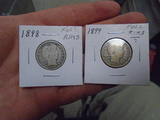 1898 and 1899 Barber Quarters